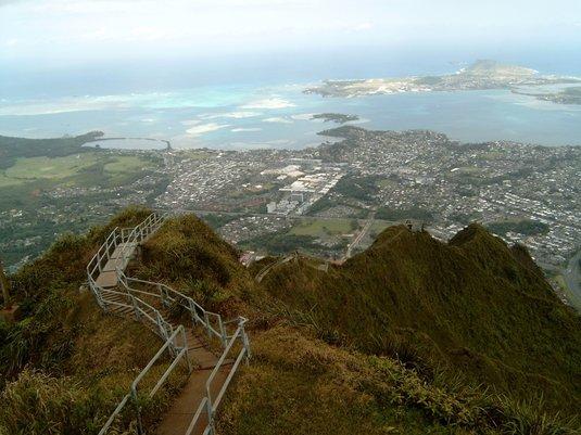 Din varful scarii peisajul este minunat