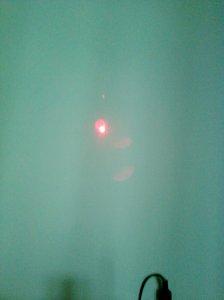 spotul luminos al unui fascicul laser